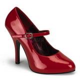 Rojo Charol 12 cm rockabilly TEMPT-35 zapatos de salón tacón bajo