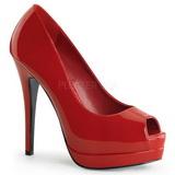 Rojo Charol 13,5 cm BELLA-12 Stiletto Zapatos Tacón de Aguja
