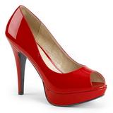 Rojo Charol 13,5 cm CHLOE-01 zapatos de salón tallas grandes