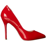 Rojo Charol 13 cm AMUSE-20 Stiletto zapatos tacón de aguja