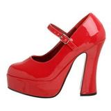 Rojo Charol 13 cm DOLLY-50 Zapatos de Salón para Hombres