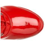 Rojo Charol 13 cm ELECTRA-2020 Plataforma Botas Media
