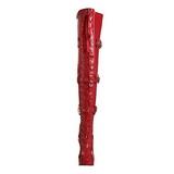 Rojo Charol 13 cm ELECTRA-3028 over knee botas altas con tacón