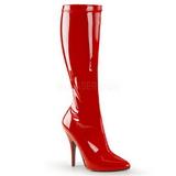 Rojo Charol 13 cm SEDUCE-2000 Botas de mujer para Hombres