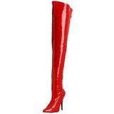 Rojo Charol 13 cm SEDUCE-3000 Largas Botas Altas Del Muslo