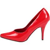 Rojo Charol 13 cm SEDUCE-420 Calzado de Salón Planos Tacón