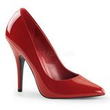 Rojo Charol 13 cm SEDUCE-420 zapatos de salón puntiagudos