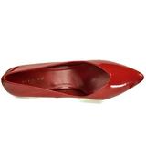 Rojo Charol 13 cm SEDUCE-420V Calzado de Salón Planos Tacón
