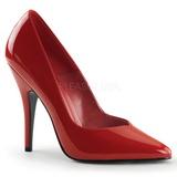 Rojo Charol 13 cm SEDUCE-420V zapatos de salón puntiagudos