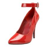 Rojo Charol 13 cm SEDUCE-431 Calzado de Salón Planos Tacón