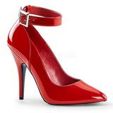 Rojo Charol 13 cm SEDUCE-431 zapatos de salón tacón bajo