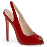 Rojo Charol 13 cm SEXY-08 zapatos de salón slingback