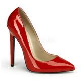 Rojo Charol 13 cm SEXY-20 zapatos tacón de aguja puntiagudos
