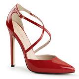 Rojo Charol 13 cm SEXY-26 Zapato Salón Clasico para Mujer