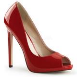 Rojo Charol 13 cm SEXY-42 Zapato Salón Clasico para Mujer