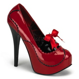 Rojo Charol 14,5 cm BORDELLO TEEZE-01 Plataforma Zapato de Salón