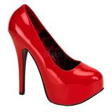 Rojo Charol 14,5 cm BORDELLO TEEZE-06 Plataforma Zapatos de Salón