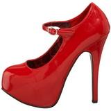 Rojo Charol 14,5 cm BORDELLO TEEZE-07 Plataforma Zapatos de Salón