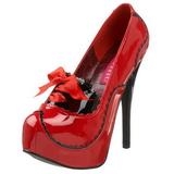 Rojo Charol 14,5 cm Burlesque BORDELLO TEEZE-01 Plataforma Zapatos de Salón