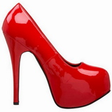 Rojo Charol 14,5 cm Burlesque BORDELLO TEEZE-06 Plataforma Zapatos de Salón