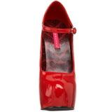 Rojo Charol 14,5 cm Burlesque BORDELLO TEEZE-07 Plataforma Zapatos de Salón