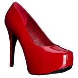 Rojo Charol 14,5 cm Burlesque TEEZE-06W zapatos de salón pies anchos hombre