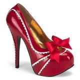 Rojo Charol 14,5 cm Burlesque TEEZE-14 Zapatos de tacón altos mujer