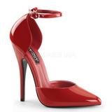 Rojo Charol 15 cm DOMINA-402 Zapatos de Salón para Hombres