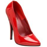 Rojo Charol 15 cm DOMINA-420 Stiletto Zapatos Tacón de Aguja