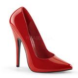 Rojo Charol 15 cm DOMINA-420 zapatos puntiagudos con tacón de aguja