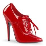 Rojo Charol 15 cm DOMINA-460 zapatos de salón tacón bajo