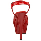 Rojo Charol 15 cm FUNTASMA JULIET-209 Tacones Altos Plataforma