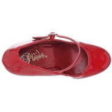 Rojo Charol 15 cm PLEASER DELIGHT-687 Plataforma Zapatos de Salón