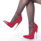 Rojo Charol 15 cm SCREAM-12 Stiletto Zapatos Tacón de Aguja