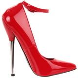 Rojo Charol 16 cm DAGGER-12 Fetish Zapatos de Salón