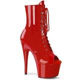 Rojo Charol 18 cm ADORE-1021 botines con suela plataforma mujer
