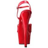 Rojo Charol 18 cm ADORE-709 Tacones Altos Plataforma