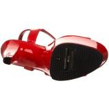 Rojo Charol 18 cm Pleaser SKY-309 Tacones Altos Plataforma