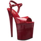 Rojo Charol 20 cm Pleaser FLAMINGO-809 Tacones Altos Plataforma