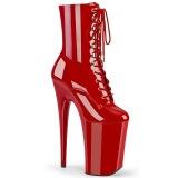 Rojo Charol 23 cm INFINITY-1020 botinhas tacones extremos plataforma
