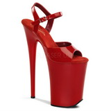Rojo Charol 23 cm INFINITY-909 Tacones Altos Plataforma