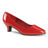 Rojo Charol 5 cm FAB-420W Calzado de Salón Planos Tacón