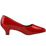 Rojo Charol 5 cm FAB-420W zapatos de salón tacón bajo