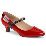 Rojo Charol 5 cm FAB-425 zapatos de salón tallas grandes