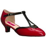 Rojo Charol 5 cm FAB-428 zapatos de salón tallas grandes