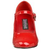 Rojo Charol 5 cm SCHOOLGIRL-50 Zapato Salón Clasico para Mujer