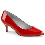 Rojo Charol 6,5 cm KITTEN-01 zapatos de salón tallas grandes
