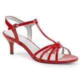 Rojo Charol 6 cm KITTEN-06 sandalias tallas grandes