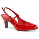 Rojo Charol 7,5 cm DIVINE-418 zapatos de salón tallas grandes