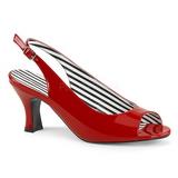 Rojo Charol 7,5 cm JENNA-02 sandalias tallas grandes